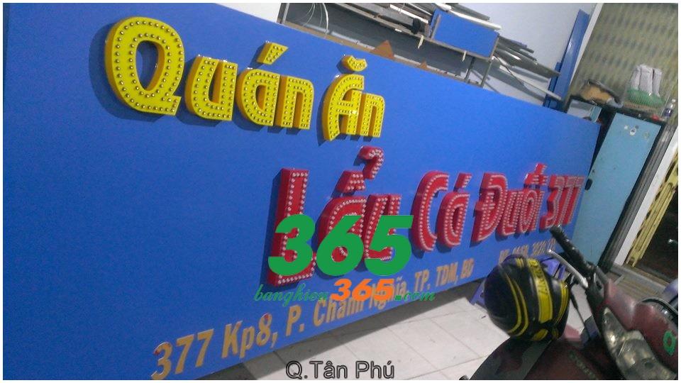Làm bảng hiệu quảng cáo giá rẻ Tân Phú Tp HCM. Làm bảng hiệu quảng cáo giá rẻ