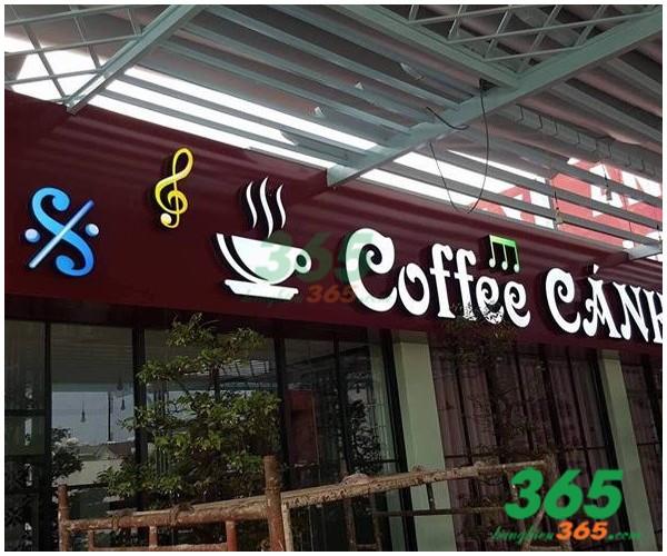 Thiết kế Mẫu bảng hiệu chữ nổi LED quán cafe