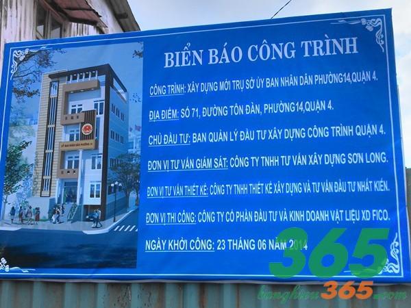 Bảng hiệu công trình xây dựng nhà nước