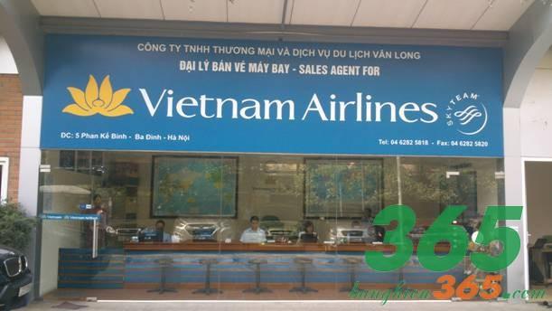 Bảng hiệu đại lý bán vé máy bay của Vietnam Airlines in ấn chất lượng