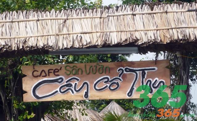 Bảng hiệu cafe sân vườn bằng gỗ