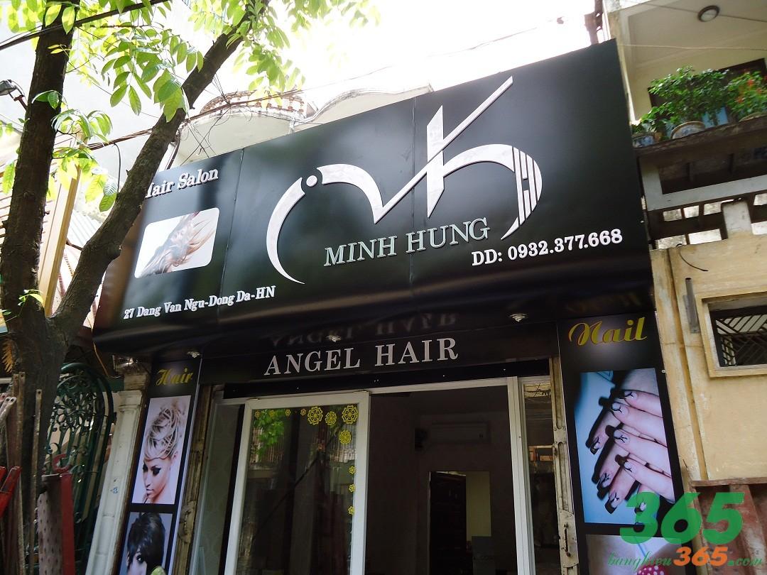 Bảng hiệu tiệm tóc mica đơn giản