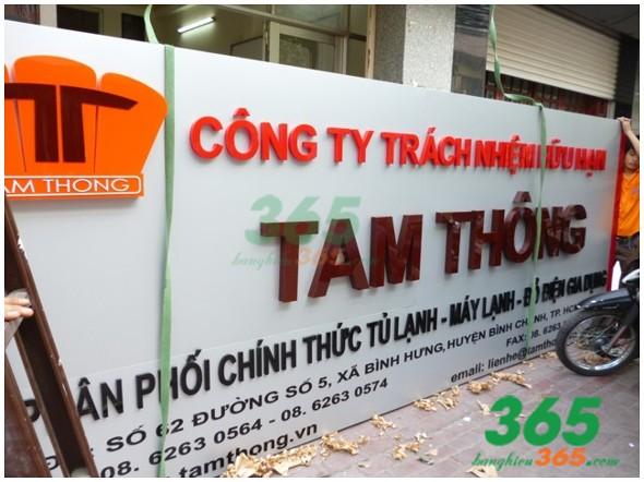 Mẫu bảng hiệu alu công ty Tam Thông