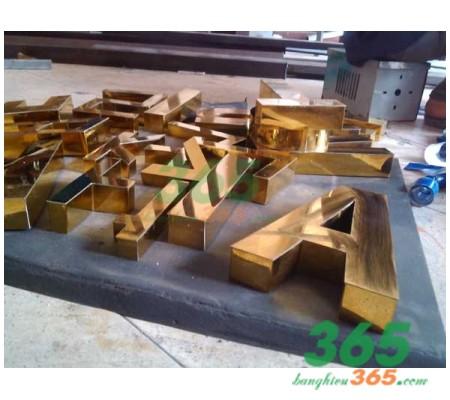 Mẫu chữ inox vàng inox02