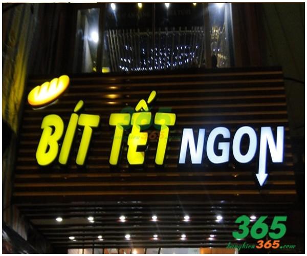 Mẫu bảng hiệu chữ nổi quán ăn bò bít tết đẹp