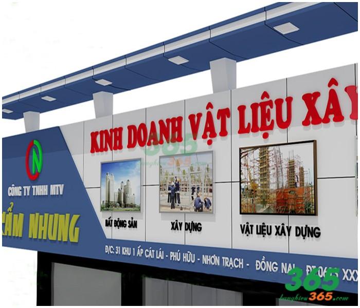 Mẫu bảng hiệu của hàng kinh doanh vật liệu xây dựng