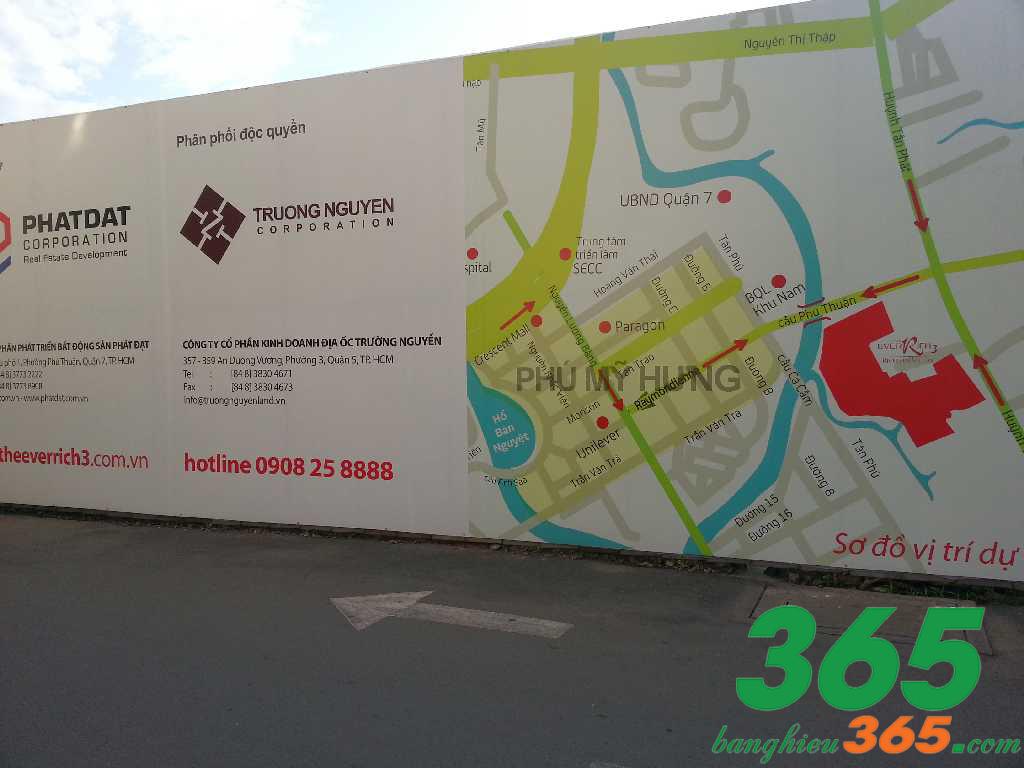 Mẫu biển hiệu kích thước lớn cung cấp sơ đồ xây dựng công trình