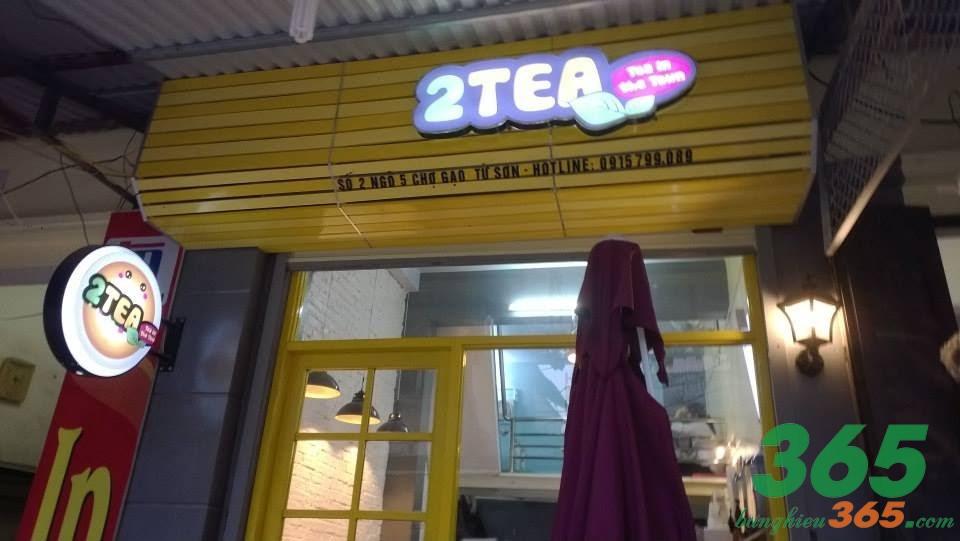 Mẫu bảng hiệu trà sữa phong cách trẻ trung