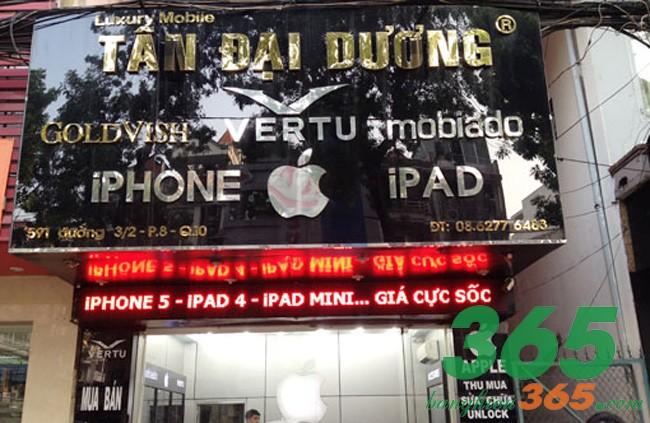 Bảng hiệu quán điện thoại chữ nổi inox sang trọng