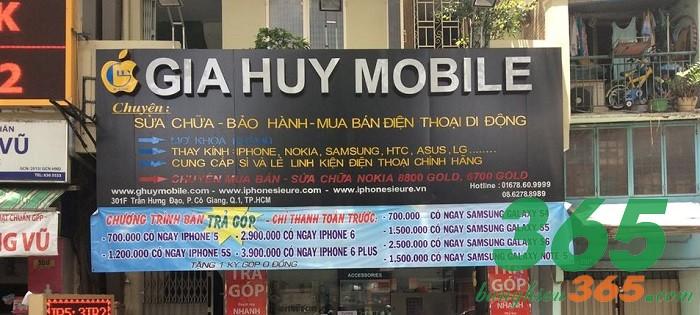 Biển quảng cáo cửa hàng điện thoại ốp alu chất lượng, chữ nổi mica