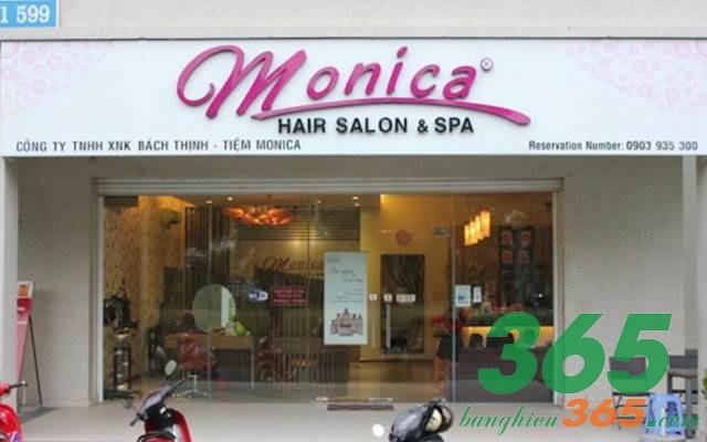 Biển hiệu salon tóc chữ nổi mica màu sắc trẻ trung