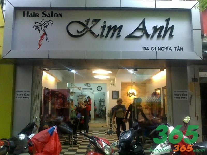 Mẫu biển quảng cáo salon tóc đơn giản
