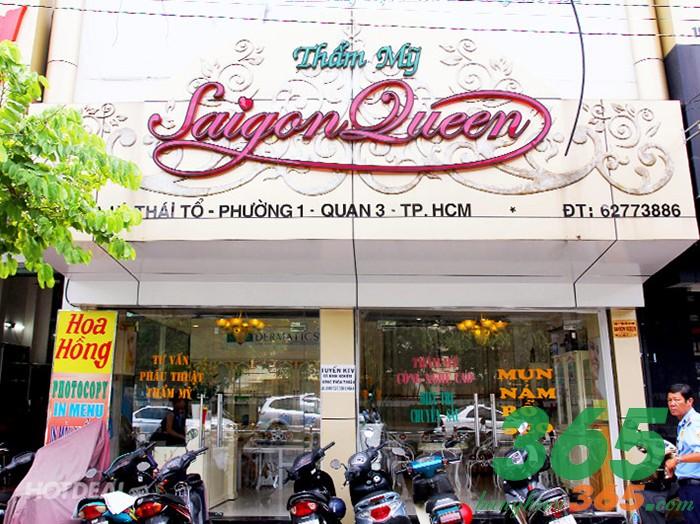 Bảng hiệu alu chữ nổi mica nghệ thuật sang trọng của spa Sài Gòn Queen