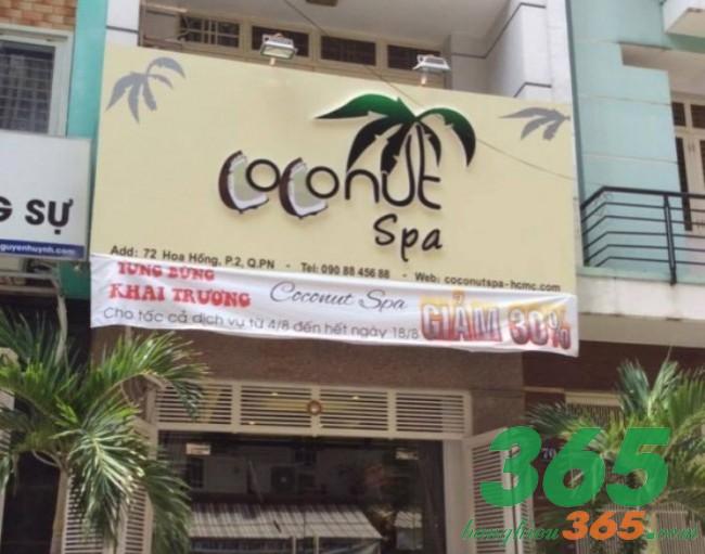 Bảng hiệu spa coconut