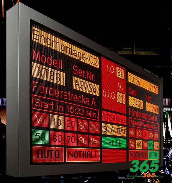 Led ma trận được dùng làm bảng thông báo tin tức